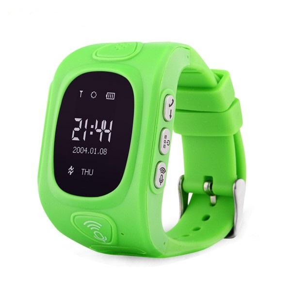 Ceas smartwatch GPS copii MoreFIT™ GW300, tripla pozitionare GPS+LBS+WiFi, telefon, buton SOS, monitorizare spion, design rezistent, Verde + SIM prepay cadou [0]