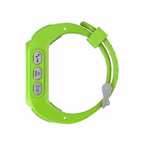 Ceas smartwatch GPS copii MoreFIT™ GW300, tripla pozitionare GPS+LBS+WiFi, telefon, buton SOS, monitorizare spion, design rezistent, Verde + SIM prepay cadou [1]
