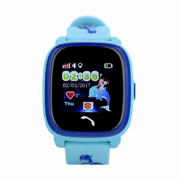 "Ceas smartwatch GPS copii MoreFIT™ GW400s Pro , cu GPS si functie telefon, Wi-Fi, rezistent la apa, ecran touchscreen 1.22"", monitorizare spion, buton SOS, albastru + SIM prepay cadou 0"