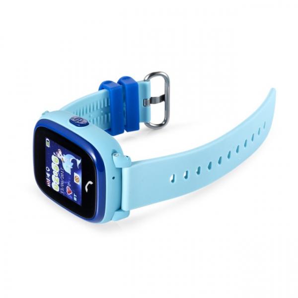 "Ceas smartwatch GPS copii MoreFIT™ GW400s Pro , cu GPS si functie telefon, Wi-Fi, rezistent la apa, ecran touchscreen 1.22"", monitorizare spion, buton SOS, albastru + SIM prepay cadou 4"