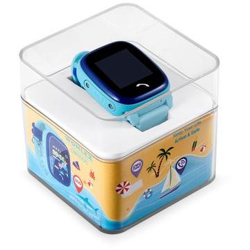 "Ceas smartwatch GPS copii MoreFIT™ GW400s Pro , cu GPS si functie telefon, Wi-Fi, rezistent la apa, ecran touchscreen 1.22"", monitorizare spion, buton SOS, albastru + SIM prepay cadou 5"