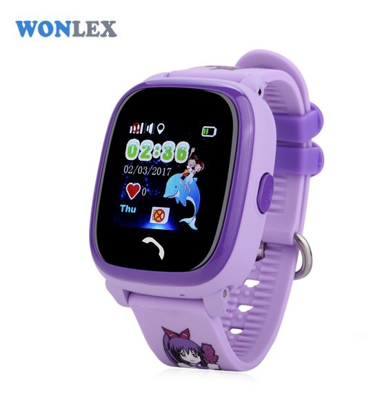 "Ceas smartwatch GPS copii MoreFIT™ GW400s Pro , cu GPS si functie telefon, Wi-Fi, rezistent la apa, ecran touchscreen 1.22"", monitorizare spion, buton SOS, lila + SIM prepay cadou 3"