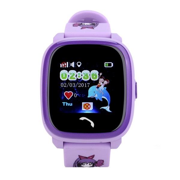 "Ceas smartwatch GPS copii MoreFIT™ GW400s Pro , cu GPS si functie telefon, Wi-Fi, rezistent la apa, ecran touchscreen 1.22"", monitorizare spion, buton SOS, lila + SIM prepay cadou 0"