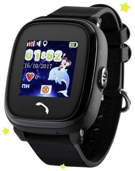 "Ceas smartwatch GPS copii MoreFIT™ GW400s Pro , cu GPS si functie telefon, Wi-Fi, rezistent la apa, ecran touchscreen 1.22"", monitorizare spion, buton SOS, negru + SIM prepay cadou [0]"