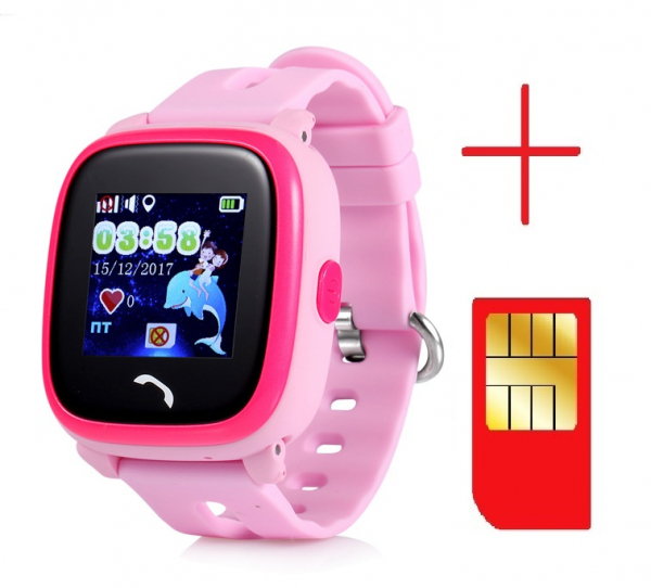 "Ceas smartwatch GPS copii MoreFIT™ GW400s Pro , cu GPS si functie telefon, Wi-Fi, rezistent la apa, ecran touchscreen 1.22"", monitorizare spion, buton SOS, roz +SIM prepay cadou [2]"