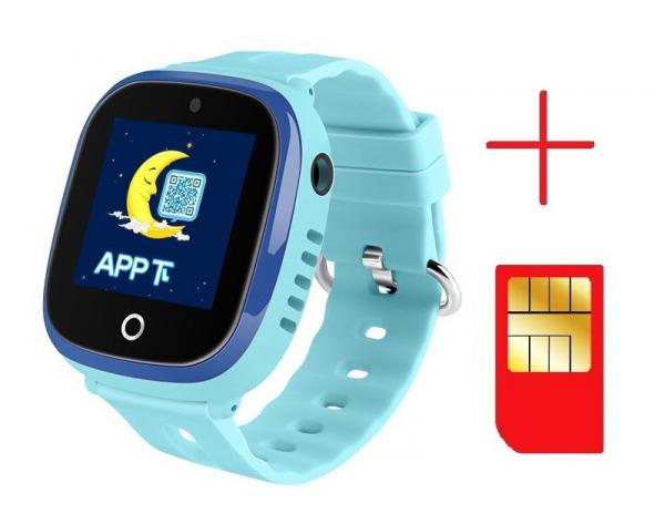 Ceas smartwatch GPS copii MoreFIT™ GW400x Pro , cu GPS si functie telefon, rezistent la apa, camera foto, buton SOS, Albastru + SIM prepay cadou 2