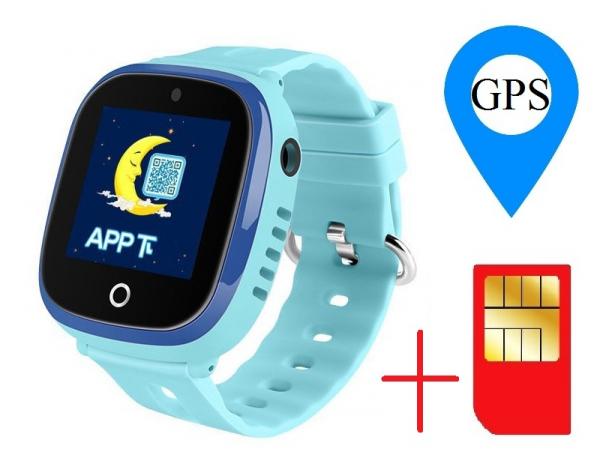 Ceas smartwatch GPS copii MoreFIT™ GW400x Pro , cu GPS si functie telefon, rezistent la apa, camera foto, buton SOS, Albastru + SIM prepay cadou 1