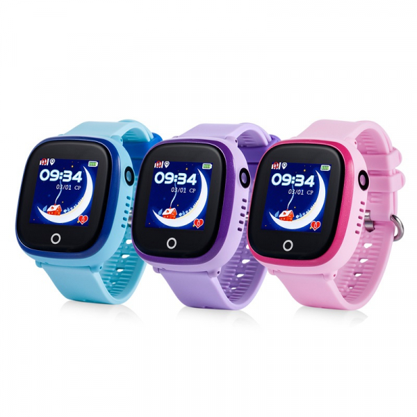 Ceas smartwatch GPS copii MoreFIT™ GW400x Pro , cu GPS si functie telefon, rezistent la apa, camera foto, buton SOS, mov +SIM prepay cadou [3]
