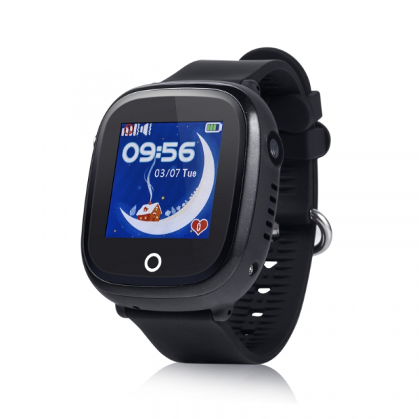 Ceas smartwatch GPS copii MoreFIT™ GW400x Pro , cu GPS si functie telefon, rezistent la apa, camera foto, buton SOS, negru + SIM prepay cadou 0