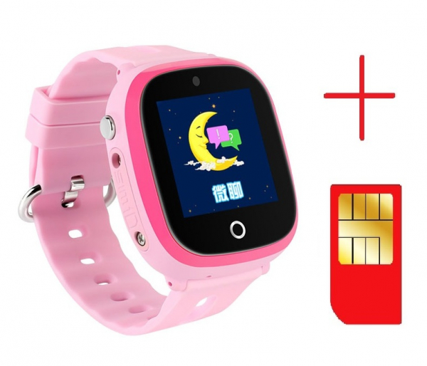 Ceas smartwatch GPS copii MoreFIT™ GW400x Pro , cu GPS si functie telefon, rezistent la apa, camera foto, buton SOS, roz + SIM prepay cadou [2]