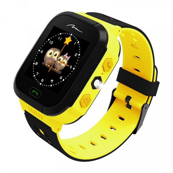 Ceas smartwatch GPS copii MoreFIT™ GW500x Pro , cu GPS si functie telefon, camera foto + lanterna, monitorizare spion, buton SOS, galben + SIM prepay cadou [0]