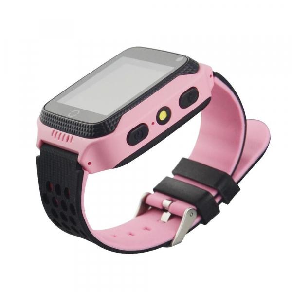 Ceas smartwatch GPS copii MoreFIT™ GW500x Pro , cu GPS si functie telefon, camera foto + lanterna, monitorizare spion, buton SOS, roz + SIM prepay cadou 4