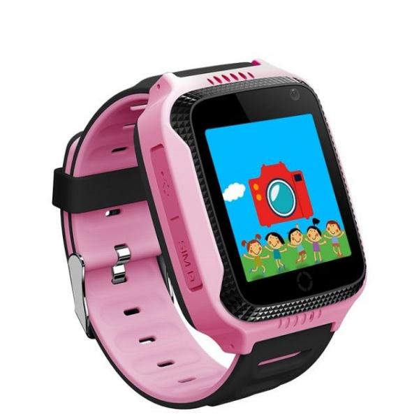 Ceas smartwatch GPS copii MoreFIT™ GW500x Pro , cu GPS si functie telefon, camera foto + lanterna, monitorizare spion, buton SOS, roz + SIM prepay cadou 3