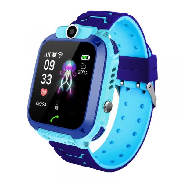Ceas smartwatch GPS copii MoreFIT™ GW600s, cu GPS si functie telefon, Wi-Fi, localizare camera foto, monitorizare spion, rezistent la soc, praf si apa, touchscreen, buton SOS, perimetru siguranta , is 0