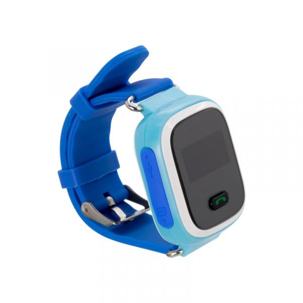 Ceas smartwatch GPS copii MoreFIT™ GW900s, cu GPS si functie telefon, monitorizare spion, pozitie GPS si LBS, buton SOS, Albastru + SIM prepay cadou 3