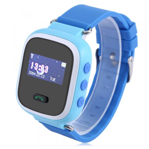 Ceas smartwatch GPS copii MoreFIT™ GW900s, cu GPS si functie telefon, monitorizare spion, pozitie GPS si LBS, buton SOS, Albastru + SIM prepay cadou 0