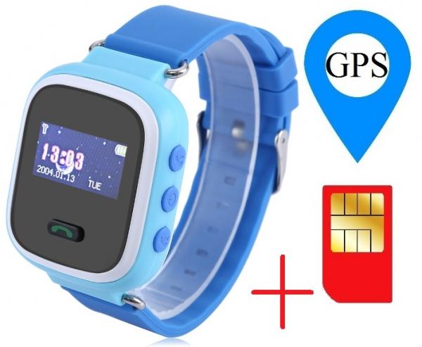 Ceas smartwatch GPS copii MoreFIT™ GW900s, cu GPS si functie telefon, monitorizare spion, pozitie GPS si LBS, buton SOS, Albastru + SIM prepay cadou 1