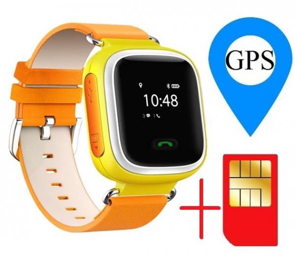 Ceas smartwatch GPS copii MoreFIT™ GW900s, cu GPS si functie telefon, monitorizare spion, pozitie GPS si LBS, buton SOS, Galben + SIM prepay cadou 1