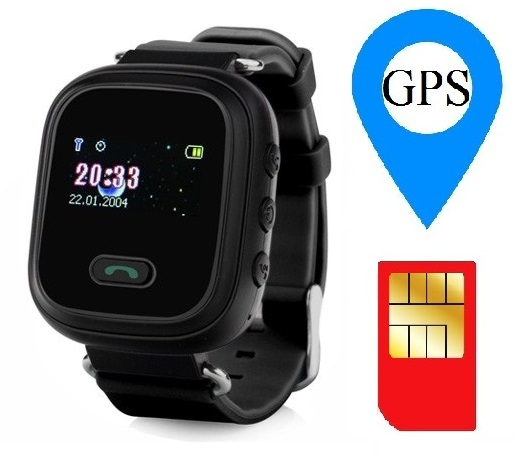 Ceas smartwatch GPS copii MoreFIT™ GW900s, cu GPS si functie telefon, monitorizare spion, pozitie GPS si LBS, buton SOS, Negru + SIM prepay cadou [1]