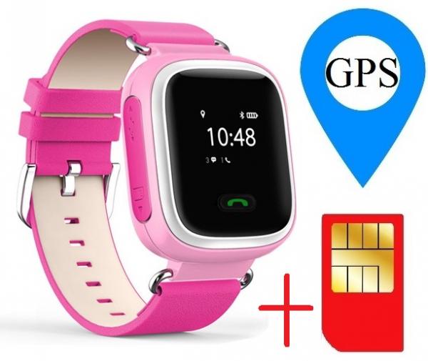 Ceas smartwatch GPS copii MoreFIT™ GW900s, cu GPS si functie telefon, monitorizare spion, pozitie GPS si LBS, buton SOS, Roz + SIM prepay cadou 1