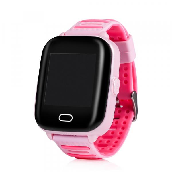 Ceas smartwatch GPS copii MoreFIT™ KT02 3G, cu GPS si functie telefon,Wi-Fi, monitorizare spion, functioneaza si pe DIGI, ecran touchscreen, buton SOS, Roz 0