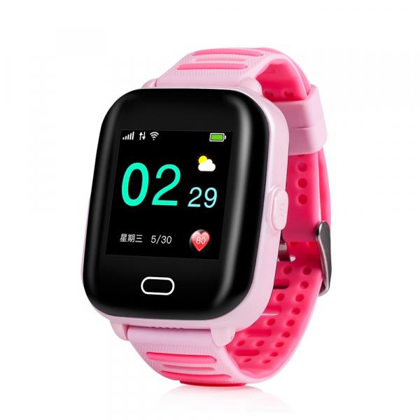 Ceas smartwatch GPS copii MoreFIT™ KT02 3G, cu GPS si functie telefon,Wi-Fi, monitorizare spion, functioneaza si pe DIGI, ecran touchscreen, buton SOS, Roz 1
