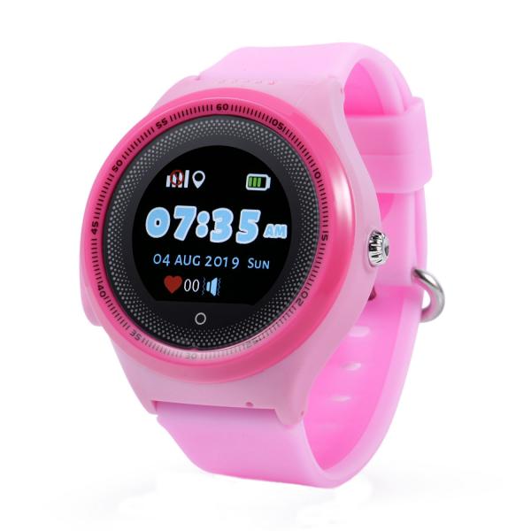 "Ceas smartwatch GPS copii MoreFIT™ KT06 , cu GPS si functie telefon, Wi-Fi, monitorizare spion,display touchscreen color 1.3"", rezistent la apa IP67, buton SOS, vibratii, roz + SIM prepay cadou 0"