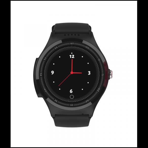 "Ceas smartwatch GPS copii MoreFIT™ KT06 , cu GPS si functie telefon, Wi-Fi, monitorizare spion,display touchscreen color 1.3"", rezistent la apa IP67, buton SOS, vibratii, negru + SIM prepay cadou [0]"