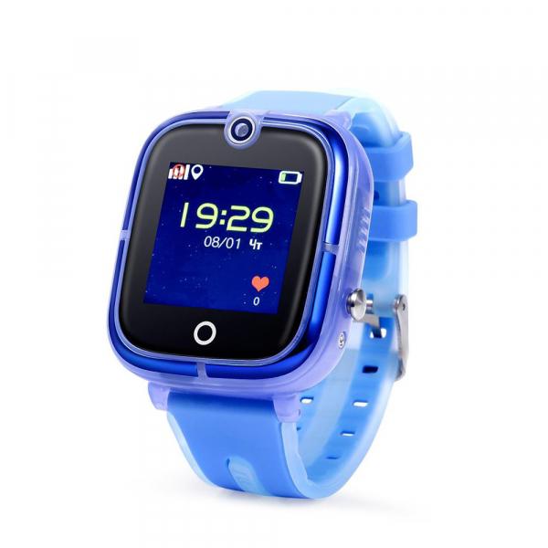 "Ceas smartwatch GPS copii MoreFIT™ KT07 , cu GPS si functie telefon, Wi-Fi, monitorizare spion,display touchscreen color 1.3"", rezistent la apa IP67, buton SOS, vibratii, albastru 0"