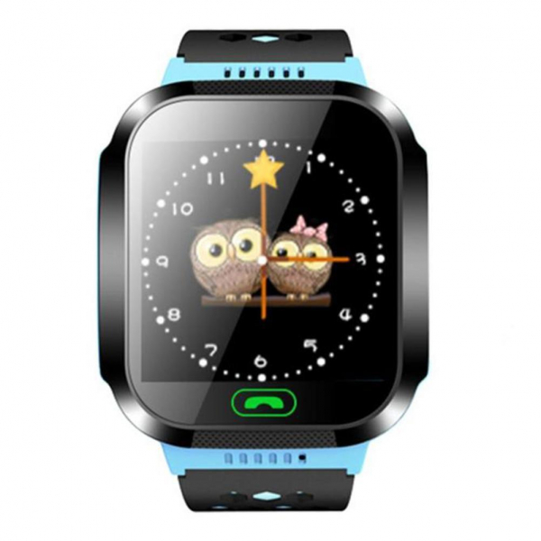 Ceas smartwatch GPS copii MoreFIT™ MX529, cu GPS prin lbs si functie telefon, localizare camera foto, monitorizare spion, display touchsreen color, lanterna, buton SOS, Albastru +SIM prepay cadou [1]