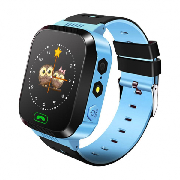 Ceas smartwatch GPS copii MoreFIT™ MX529, cu GPS prin lbs si functie telefon, localizare camera foto, monitorizare spion, display touchsreen color, lanterna, buton SOS, Albastru +SIM prepay cadou [0]