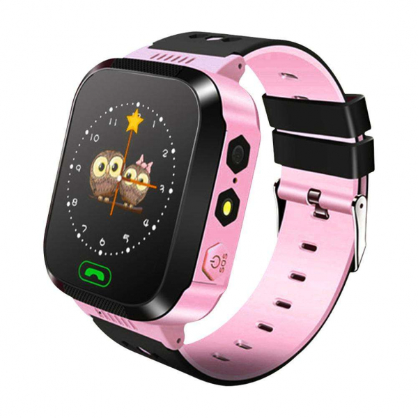 Ceas smartwatch GPS copii MoreFIT™ MX528, cu GPS prin lbs si functie telefon, localizare camera foto laterala, monitorizare spion, display touchsreen color, lanterna,buton SOS,buton apel lateral, Roz 0