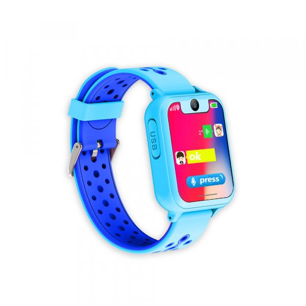 Ceas smartwatch GPS copii MoreFIT™ MX600, functie telefon, monitorizare GPS, localizare camera foto, monitorizare spion, touchscreen, lanterna, buton SOS, perimetru siguranta, albastru+ SIM prepay ca 2