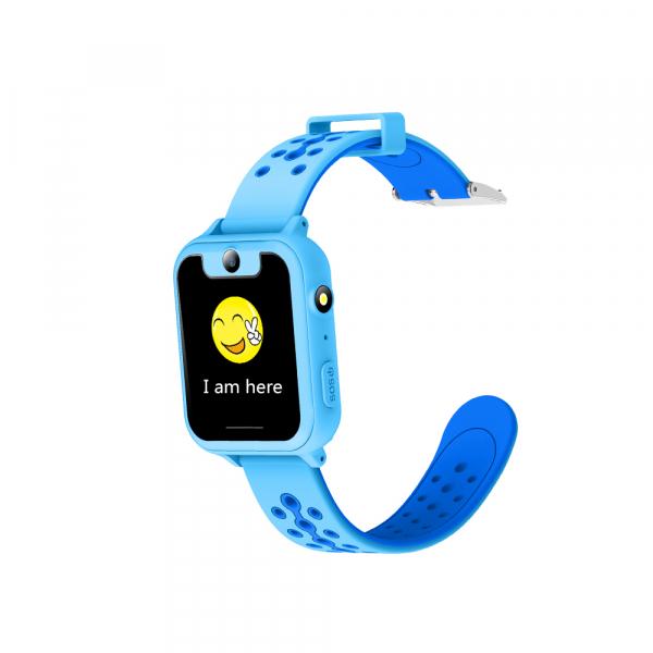 Ceas smartwatch GPS copii MoreFIT™ MX600, functie telefon, monitorizare GPS, localizare camera foto, monitorizare spion, touchscreen, lanterna, buton SOS, perimetru siguranta, albastru+ SIM prepay ca 1