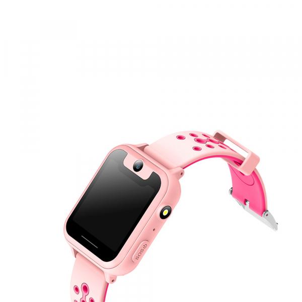 Ceas smartwatch GPS copii MoreFIT™ MX600, functie telefon, monitorizare GPS, localizare camera foto, monitorizare spion, touchscreen, lanterna,  buton SOS, perimetru siguranta , roz + SIM prepay cadou [1]