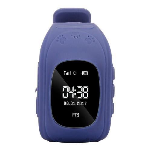 Ceas smartwatch GPS copii MoreFIT™ Q50, functie telefon, monitorizare GPS in timp real , Wi-FI, buton SOS si monitorizare spion, Bleumarin +SIM prepay cadou 4