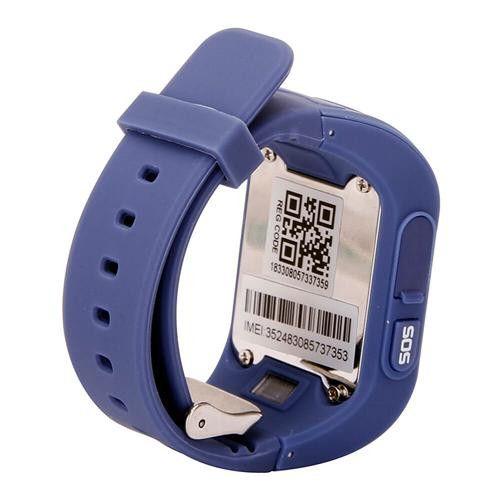 Ceas smartwatch GPS copii MoreFIT™ Q50, functie telefon, monitorizare GPS in timp real , Wi-FI, buton SOS si monitorizare spion, Bleumarin +SIM prepay cadou 3