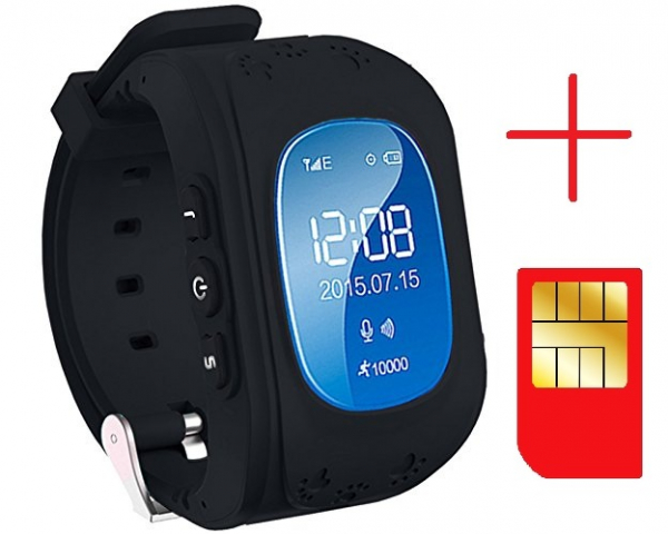Ceas smartwatch GPS copii MoreFIT™ Q50, functie telefon, monitorizare GPS in timp real , Wi-FI, buton SOS si monitorizare spion, negru + SIM prepay cadou 2