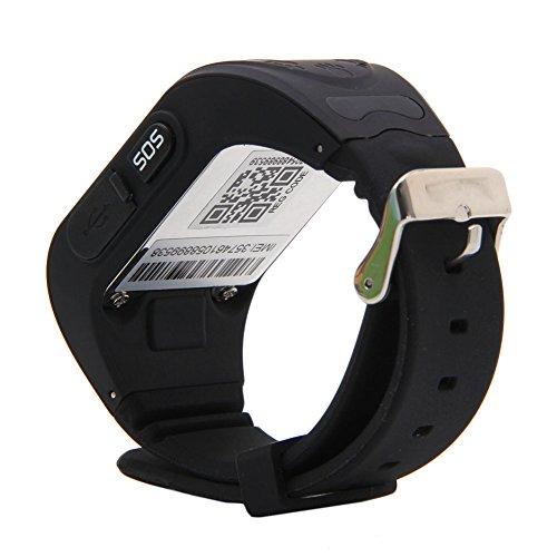Ceas smartwatch GPS copii MoreFIT™ Q50, functie telefon, monitorizare GPS in timp real , Wi-FI, buton SOS si monitorizare spion, negru + SIM prepay cadou 5