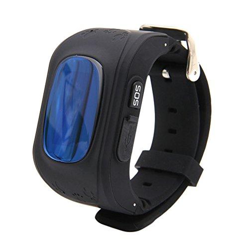 Ceas smartwatch GPS copii MoreFIT™ Q50, functie telefon, monitorizare GPS in timp real , Wi-FI, buton SOS si monitorizare spion, negru + SIM prepay cadou 4