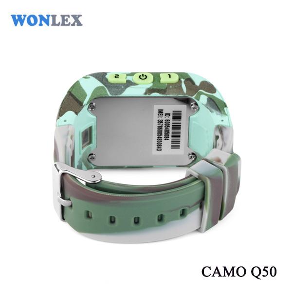 Ceas smartwatch GPS copii MoreFIT™ Q50, functie telefon, monitorizare GPS in timp real , Wi-FI, buton SOS si monitorizare spion, verde camo + SIM prepay cadou 5