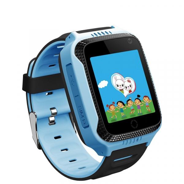 Ceas smartwatch GPS copii MoreFIT™ Q528, cu GPS prin lbs si functie telefon, localizare camera foto, monitorizare spion, display touchsreen color, lanterna, buton SOS, Albastru 1