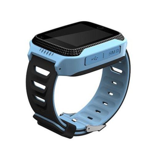Ceas smartwatch GPS copii MoreFIT™ Q528, cu GPS prin lbs si functie telefon, localizare camera foto, monitorizare spion, display touchsreen color, lanterna, buton SOS, Albastru 3