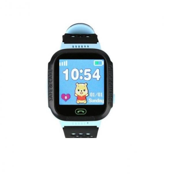 Ceas smartwatch GPS copii MoreFIT™ Q528, cu GPS prin lbs si functie telefon, localizare camera foto, monitorizare spion, display touchsreen color, lanterna, buton SOS, Albastru 2