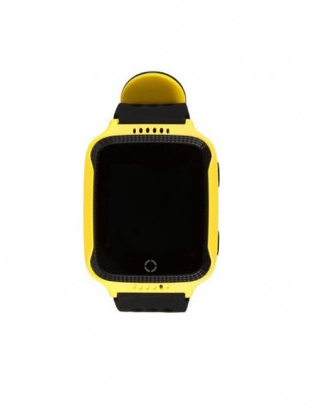 Ceas smartwatch GPS copii MoreFIT™ Q528, cu GPS prin lbs si functie telefon, localizare camera foto, monitorizare spion, display touchsreen color, lanterna,buton SOS, Galben 1