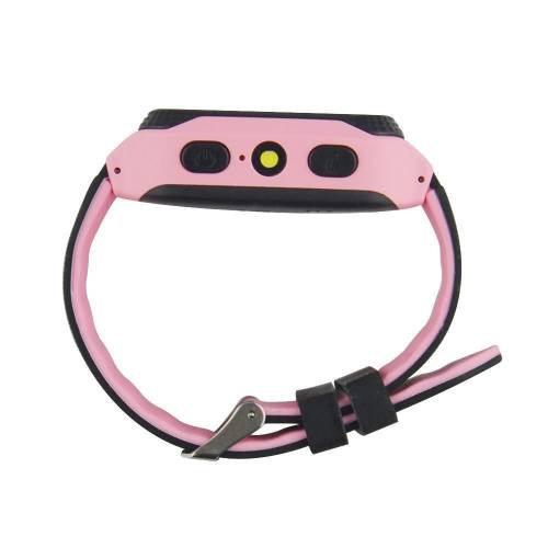 Ceas smartwatch GPS copii MoreFIT™ Q529, cu GPS prin lbs si functie telefon, localizare camera foto, monitorizare spion, display touchsreen color, lanterna, buton SOS, Roz + SIM prepay cadou 2