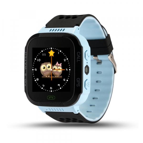 Ceas smartwatch GPS copii MoreFIT™ Q529, cu GPS prin lbs si functie telefon, localizare camera foto, monitorizare spion, display touchsreen color, lanterna, buton SOS, Albastru + SIM prepay cadou [0]