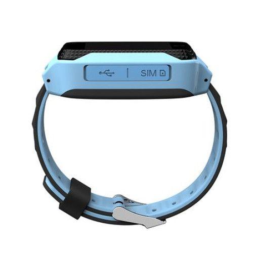 Ceas smartwatch GPS copii MoreFIT™ Q529, cu GPS prin lbs si functie telefon, localizare camera foto, monitorizare spion, display touchsreen color, lanterna, buton SOS, Albastru + SIM prepay cadou [1]