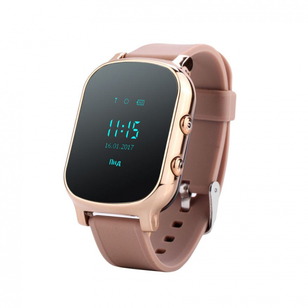 Ceas smartwatch GPS copii sau adultii MoreFIT™ GW700, cu GPS si functie telefon,Wi-Fi, monitorizare spion, buton SOS, Auriu +SIM prepay cadou 0