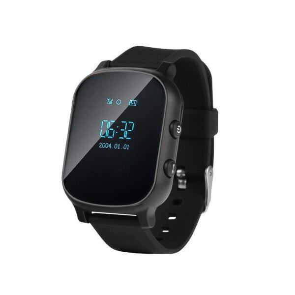 Ceas smartwatch GPS copii sau adultii MoreFIT™ GW700, cu GPS si functie telefon,Wi-Fi, monitorizare spion, buton SOS, Negru +SIM prepay cadou [0]